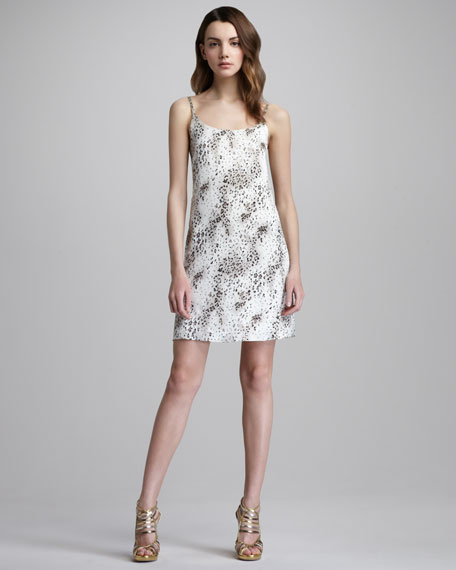 Loose Silk Henley Dress