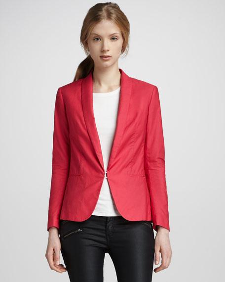 Sliver Tuxedo Jacket, Tropical Pink