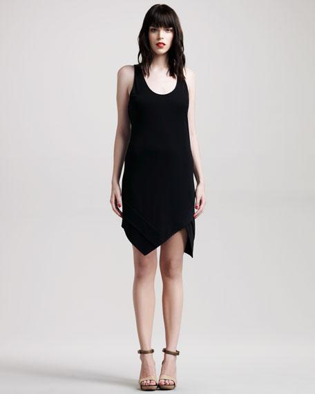 Angled-Hem Jersey Dress