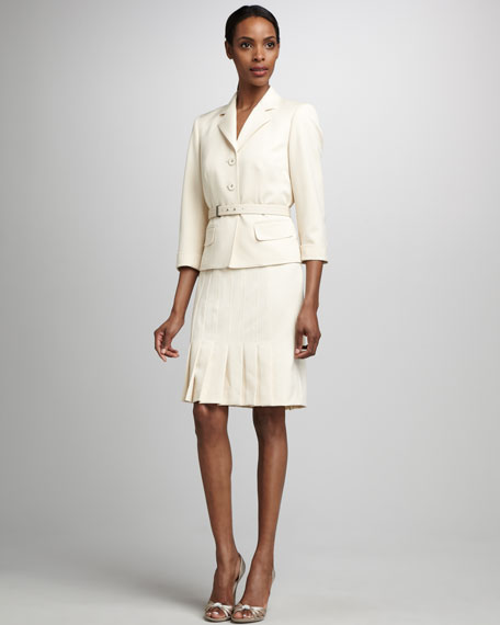 Belted Skirtsuit