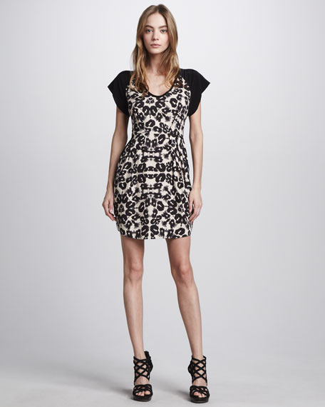 Leopard-Print Shift Dress