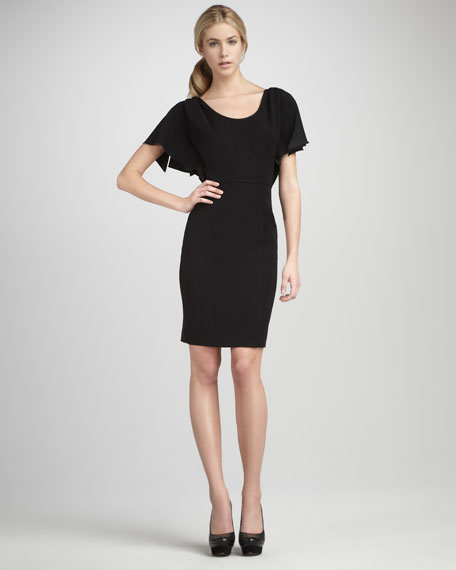 Madeline Flutter-Sleeve Dress