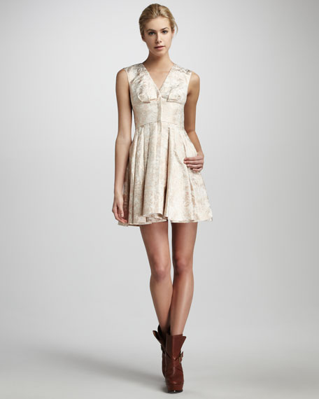 Daria Metallic Dress