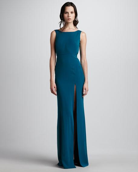 Kassie Drape-Back Gown