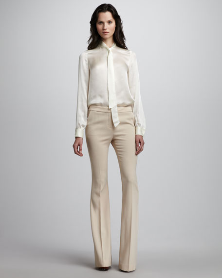 Hutton Flare Pants, Sand