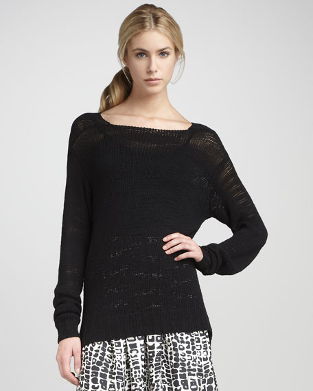 Asymmetric-Hemmed Sweater