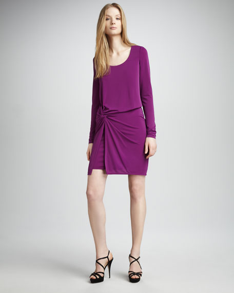 Knotted Jersey Dress