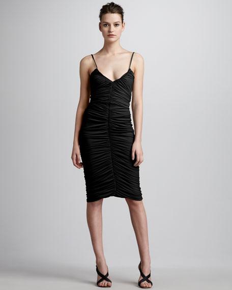 Shiny Ruched Dress