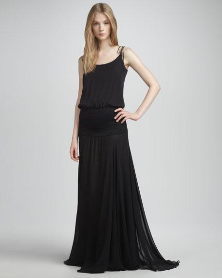Sheer-Skirt Gown