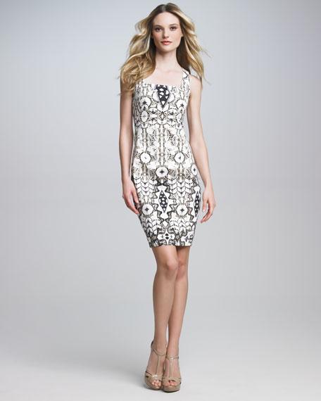 Square-Neck Sheath Dress