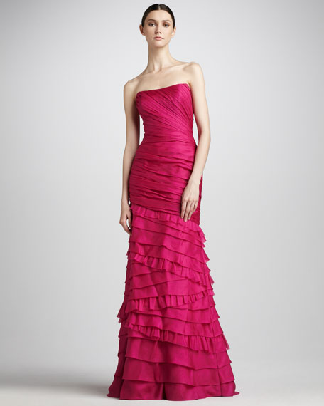 Tiered Organza Gown