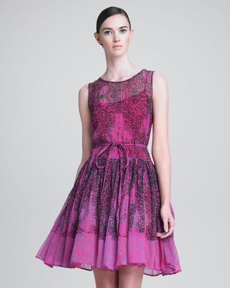 Micro Leopard-Print Dress