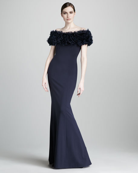 Rosette-Top Gown