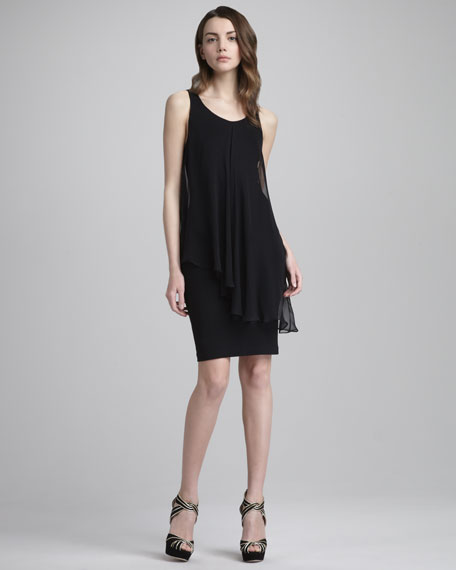 Kendall Sheer-Layer Dress