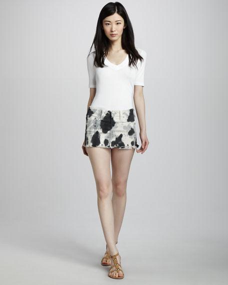 Mandy Tie-Dye Denim Miniskirt