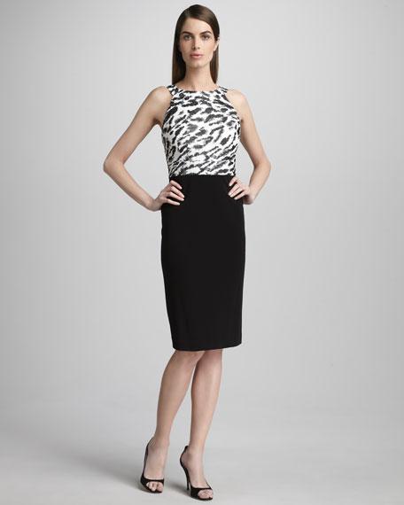 Bodice-Print Sheath Dress