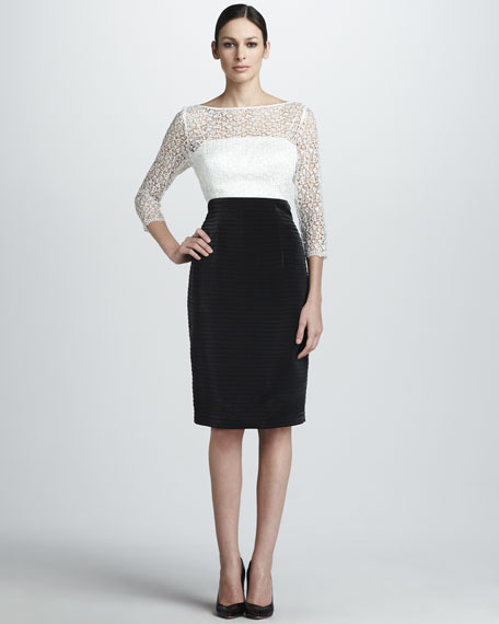 Lace-Bodice Ticketed-Skirt Dress