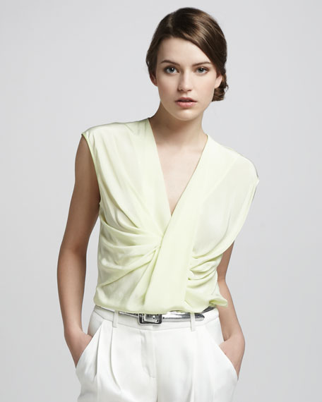 Twist-Front Draped Top