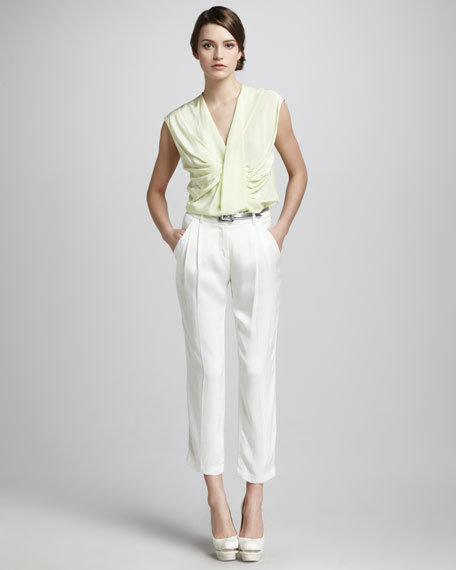 Pleated Ankle Trousers