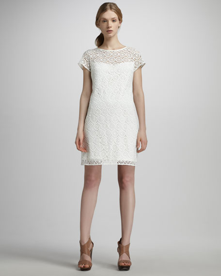 Floral Eyelet-Lace Dress
