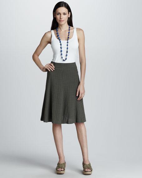 Basket-Weave Crepe Skirt