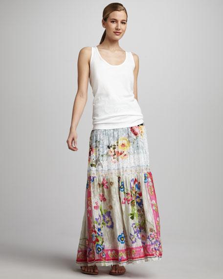 Odette Silk Long Skirt