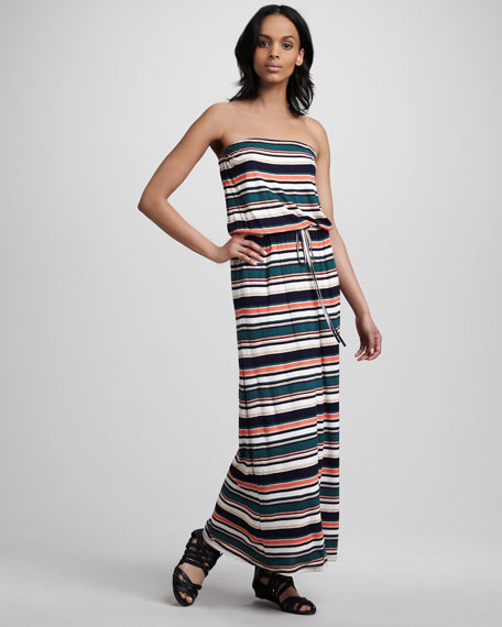 Groovy Strapless Maxi Dress
