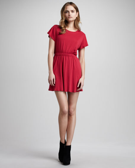 Back-Cutout Dress, Poppy