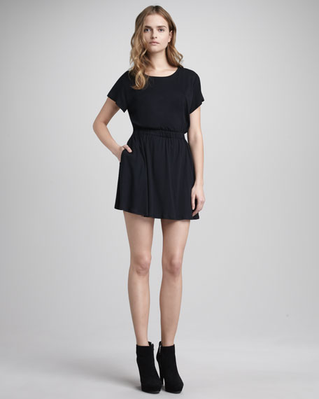 Back-Cutout Dress, Black