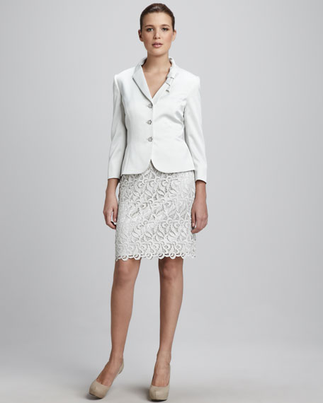 Lace-Skirt Suit