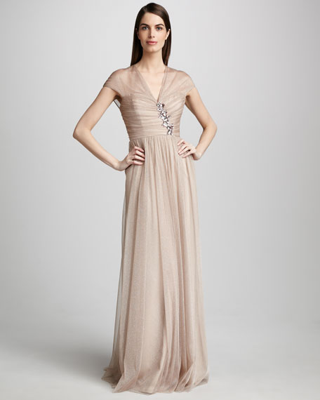Jewel-Bust Gown