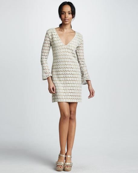 Crocheted Lace Cocktail Dress