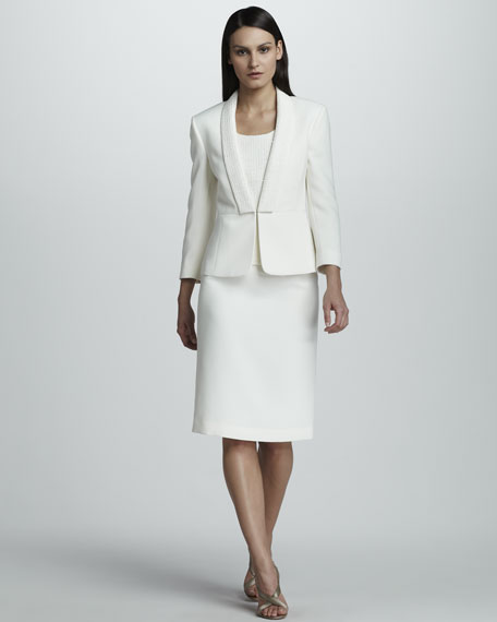 Suit with Sequined Lapels