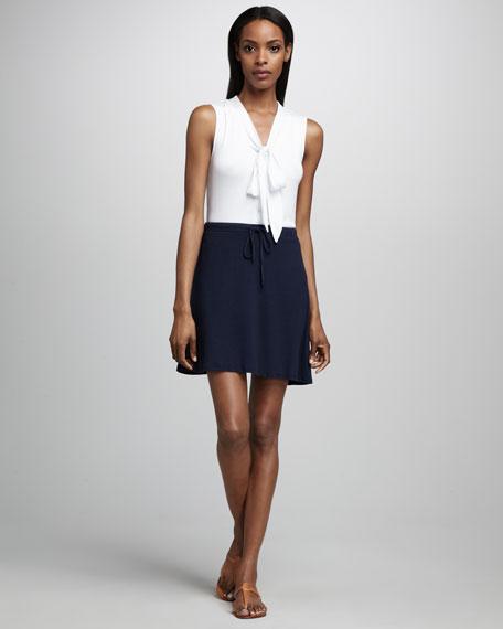 Knit Drawstring Skirt