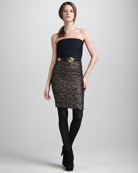 Niki Belted Combo Dress