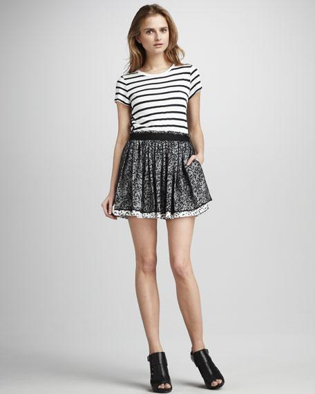 Printed Overlay Skirt