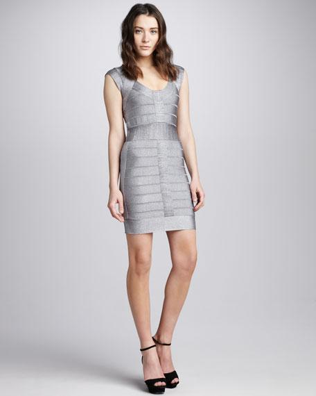 Metallic Spotlight Knit Dress