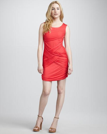 Drape-Front Knit Dress