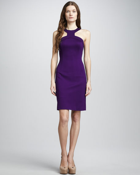 Orissa Ponte Halter Dress