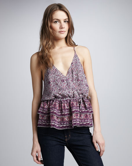 Rhodesia Mixed-Print Top