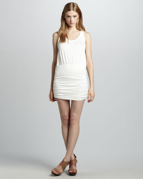 Ruched-Skirt Dress