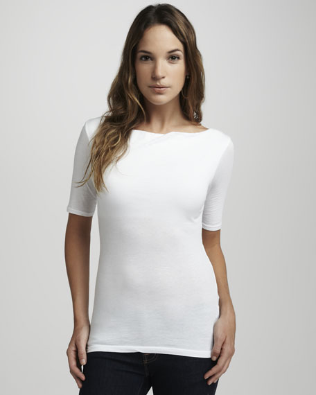 Gauzy Whisper Jennifer Top, White