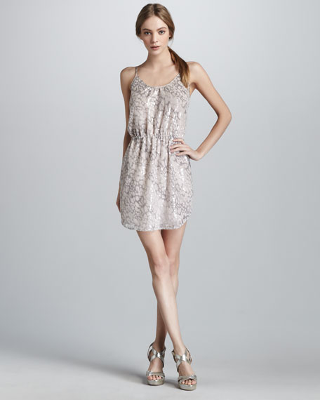 Sequined Leopard-Print Dress
