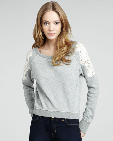 Tattered Lace Long-Sleeve Pullover