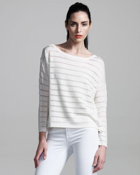 Sheer-Stripe Top