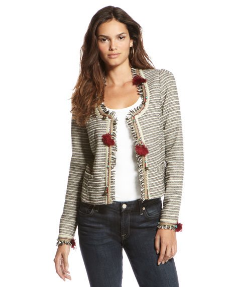 Embellished Tweed Blazer