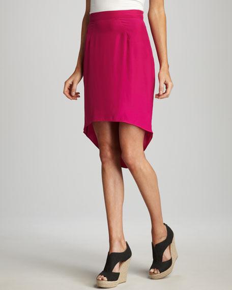 Hi-Lo Silk Skirt