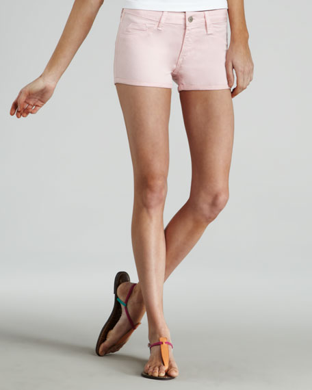 Bleeker Denim Shorts, Pink