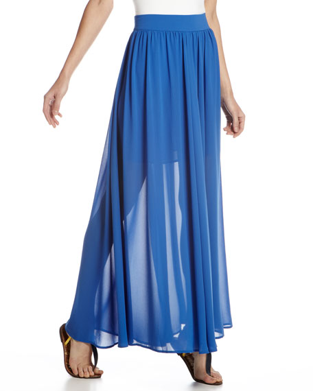 Shirred Maxi Skirt