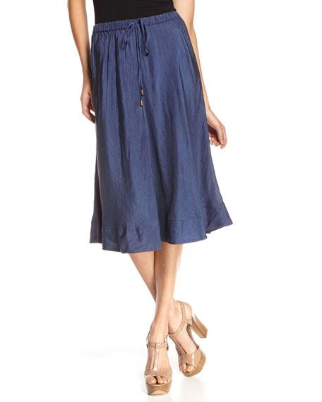 Carter Woven Silk Skirt
